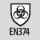 Veiligheidsklasse Schutz gegen bakteriologische Risiken gemäß EN 374