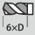 Profundidad de taladrado hasta 6×D