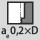 Anchura de ataque a<sub>e</sub> en la operación de fresado 0,2×D al contornear