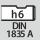 Mango DIN 1835 A con h6