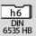Mango DIN 6535 HB con h6