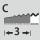 Forma del corte previo C