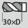 Profundidad de taladrado hasta 30×D