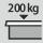 Capacidad de carga cajón/estante extraíble 200