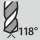 Ángulo de punta 118