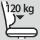 Capacidad de carga silla 120