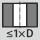 Empleo con tipo de perforación hasta 1×D en agujero pasante