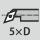 Profundidad de giro interior hasta 5×D