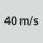 Velocidad circunf. máxima 40