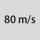Velocidad circunf. máxima 80
