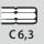 Mango hexagonal para puntas C 6,3