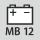 passande batterifabrikat/batterityp/spänning Milwaukee typ B 12 V