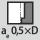 Anchura de ataque a<sub>e</sub> en la operación de fresado 0,5×D en contornear