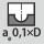 Anchura de ataque a<sub>e</sub> en la operación de fresado 0,1×D en fresado copiador