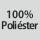Composición del tejido 100% poliéster