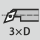 Profundidad de giro interior hasta 3×D