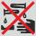 Cojinetes Almacenaje prohibido de sustancias corrosivas