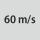 Velocidad circunf. máxima 60