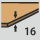 Grosor de plaquita 16