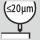 Precisión de concentricidad ≤ 20