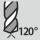 Ángulo de punta 120