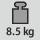 重量 8,5