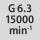 动平衡精度 G 对应的转速 G 6.3,在 15000 min<sup>-1</sup> 条件下