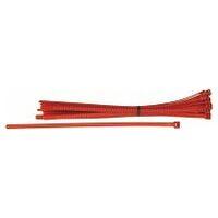Cable tie set LR55, releasable, red  25 pieces